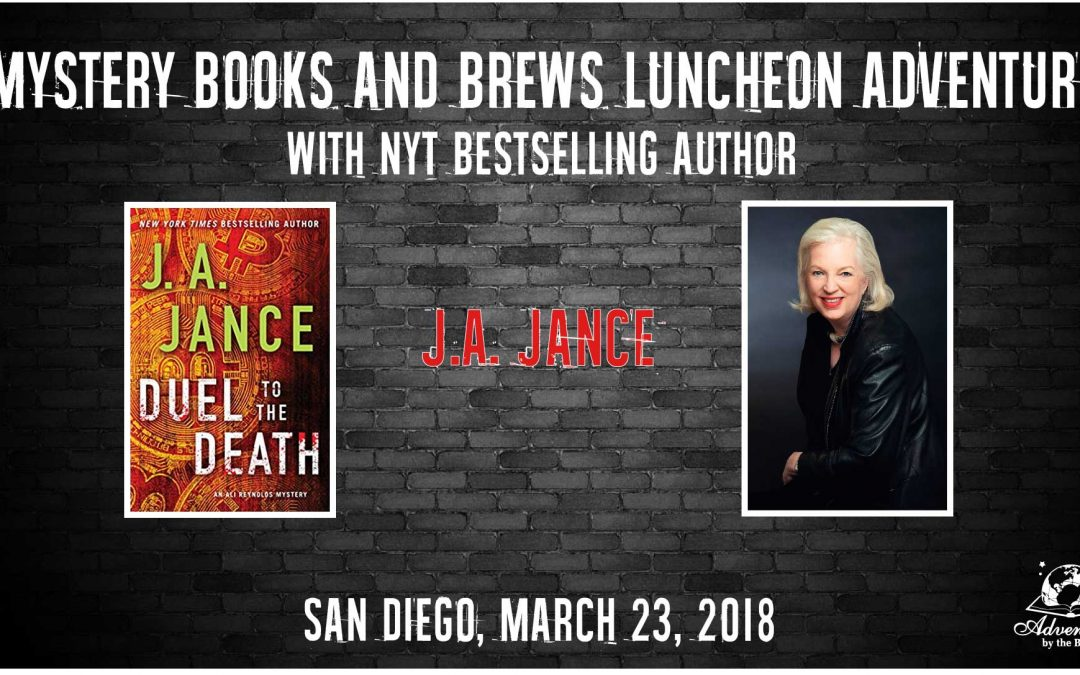 Mystery Books & Brews Adventure with NYT bestselling author J.A. Jance (San Diego)