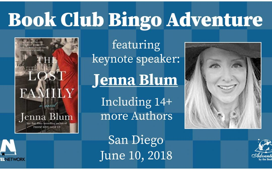 Book Club Bingo Adventure Featuring  New York Times and International Bestselling Author Jenna Blum, and at Least 18 Other Fabulous Authors