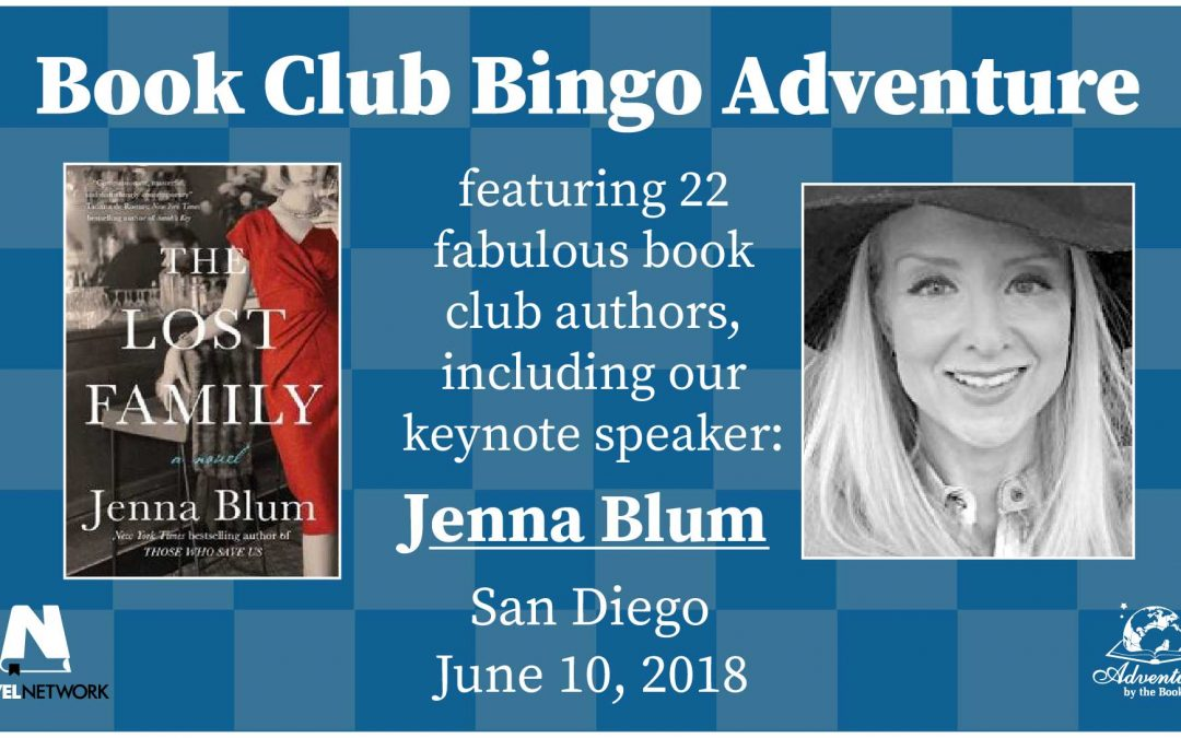 Book Club Bingo Adventure with 21 Authors and Keynote Speaker, NYT Bestselling Author Jenna Blum