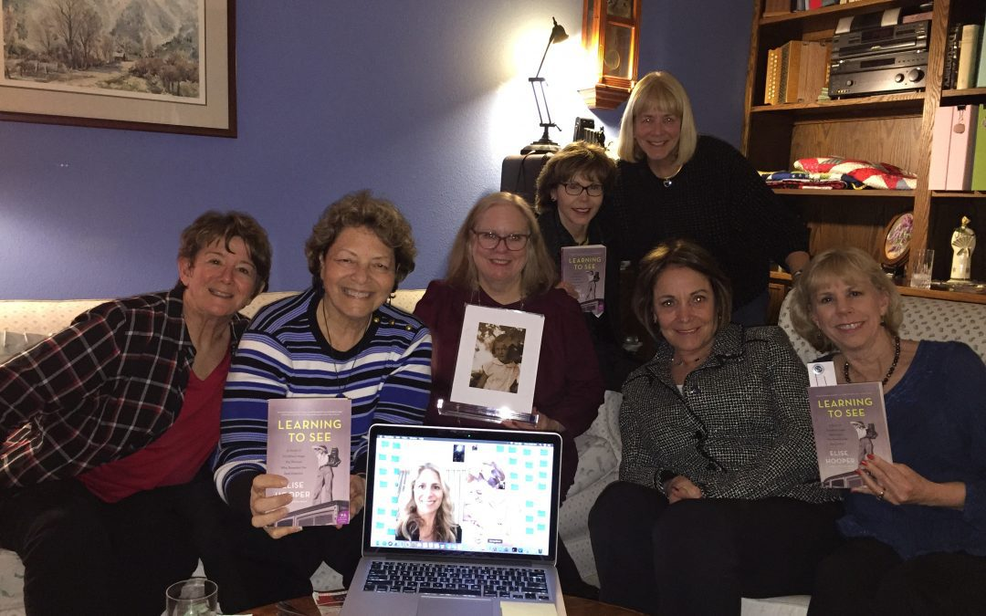 Elise Hooper visits with the T-Town Book Club