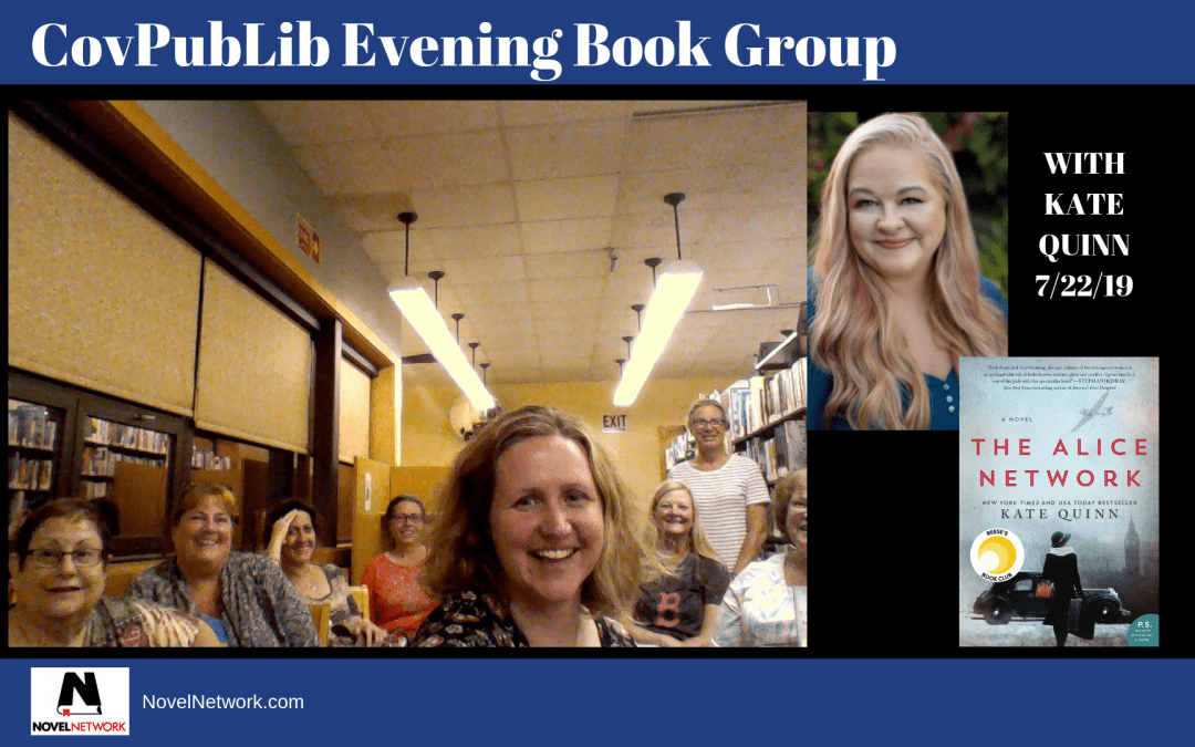 CovPubLib Evening Book Group Visits With Kate Quinn