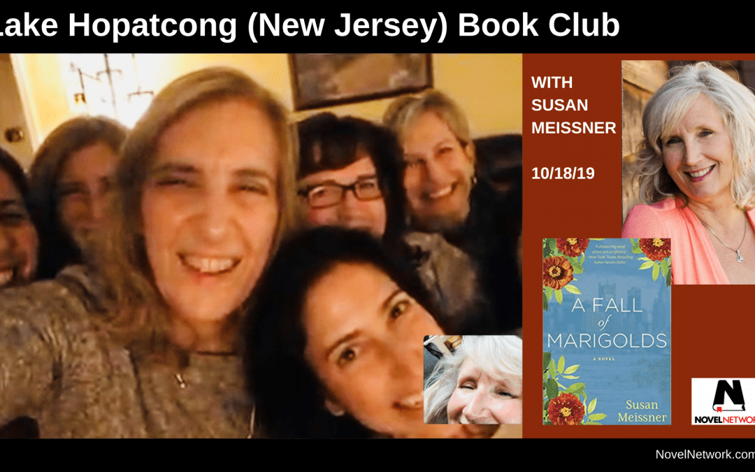 Lake Hopatcong (New Jersey) Book Club Thoroughly Enjoys Susan Meissner
