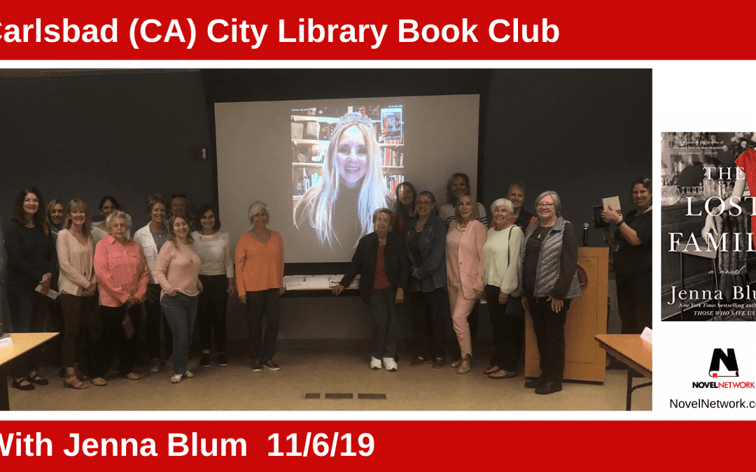 Carlsbad (CA) City Library Book Club Enthralled by Jenna Blum