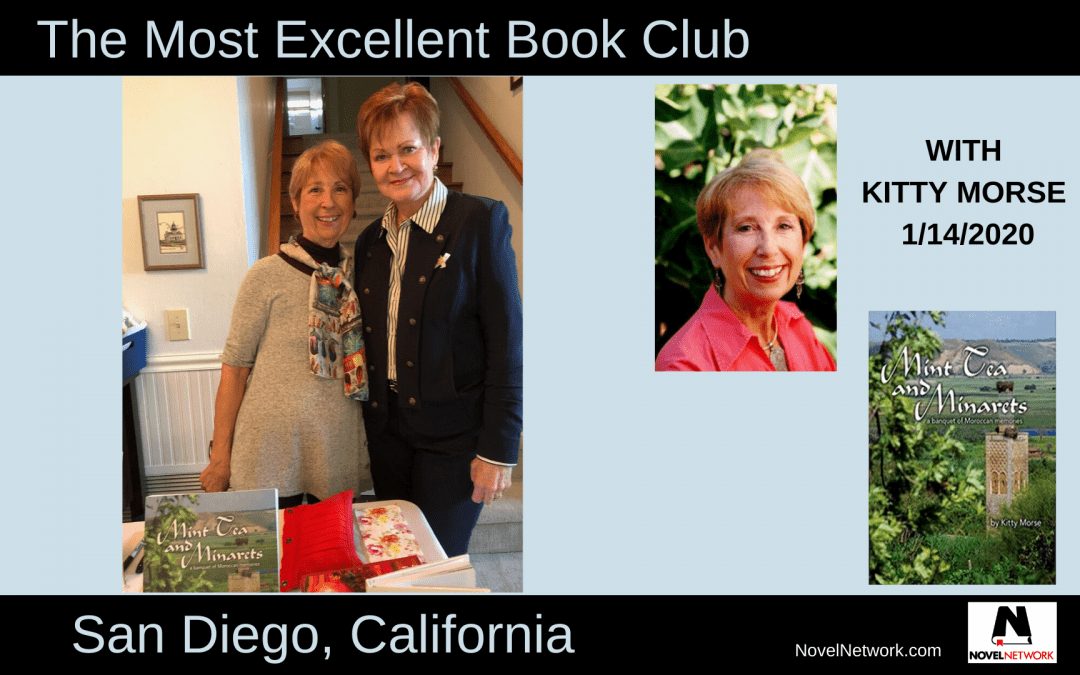 The Most Excellent Book Club Enjoys a Personal Appearance by Kitty Morse