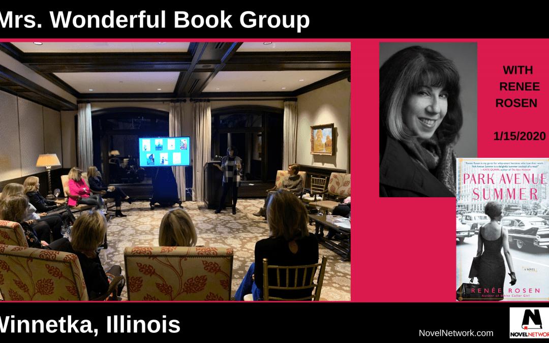 Renée Rosen Wows the Mrs. Wonderful Book Group!
