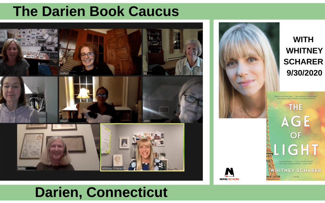 The Darien Book Caucus Enjoys an Amazing Experience With Whitney Scharer