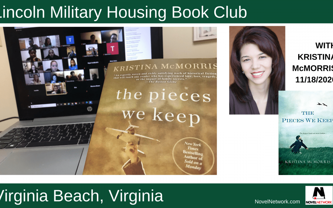 Lincoln Military Housing Book Club Offers Many Thanks (Literally) to Kristina McMorris
